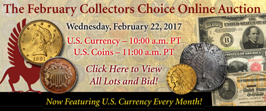 Stack's Bowers February Collectors Choice Auction banner