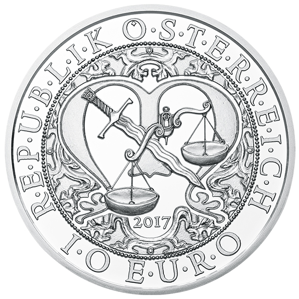 Austria 2017 Michael - The Protecting Angel 10 Euro Silver Special Uncirculated coin. Image courtesy Austrian Mint