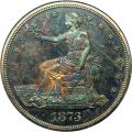 Obverse, United States 1873 Trade Dollar Silver Coin. Image courtesy David Lawrence Rare Coins