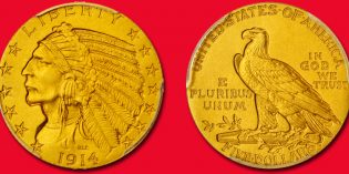 Virtually Flawless Proof-68 1914 Indian Half Eagle Featured in March 2017 Baltimore Auction