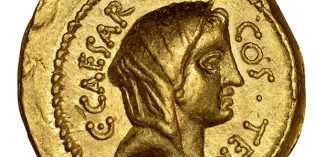 Ancient Coin Profiles: Roman Gold Aureus of Julius Caesar