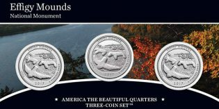 Effigy Mounds America the Beautiful Quarters 3-Coin Set Available Feb. 27