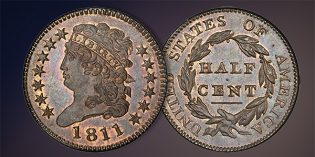 Stack's Bowers: Finest Prooflike 1811 Half Cent, Superb Gem Mint State