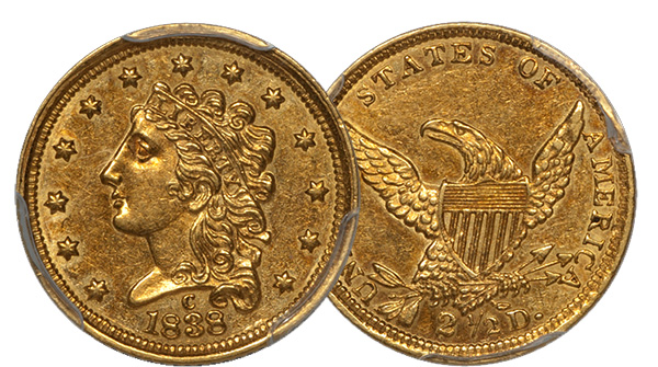 1838-C $2.50 Gold Coin