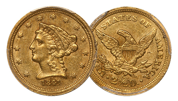 1841-C $2.50 Gold Coin