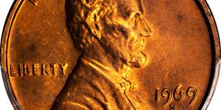 United States 1969-S Lincoln Memorial Cent