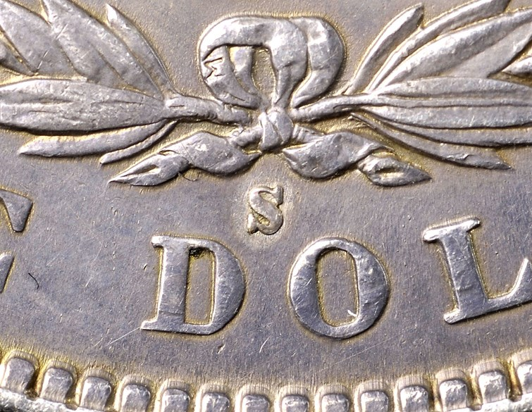 "Detail Added ""S"" Mintmark on the ""1903-S"" Morgan Dollar. Image courtesy NGC"