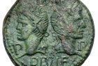 Ancient Coin Profiles: Roman Provincial Bronze Dupondius – Augustus and Agrippa with Crocodile