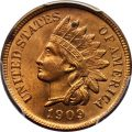 Obverse, United States 1909-S Indian Head cent. Image courtesy David Lawrence Rare Coins