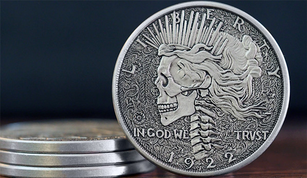 "Die struck modern hobo nickel-inspired ""coin"", credit: Chris Ovdiyenko"