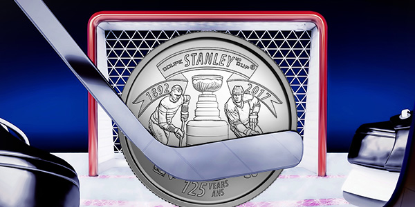 Royal Canadian Mint's Hockey 25 cent coin