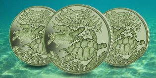 Pobjoy Issues New Green Turtle Colored Titanium Coin