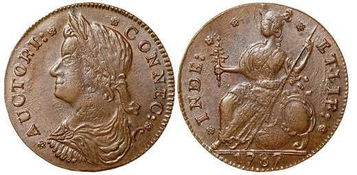 1787 Connecticut Copper Shilling. Images courtesy NGC
