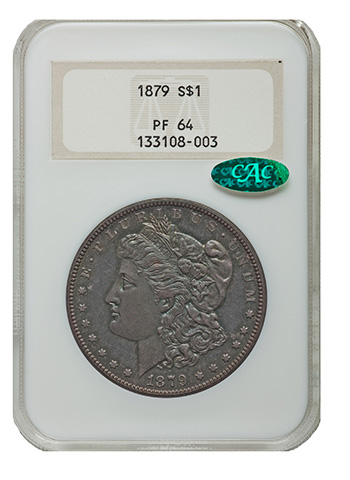 NGC 1879 PF64 Morgan Dollar