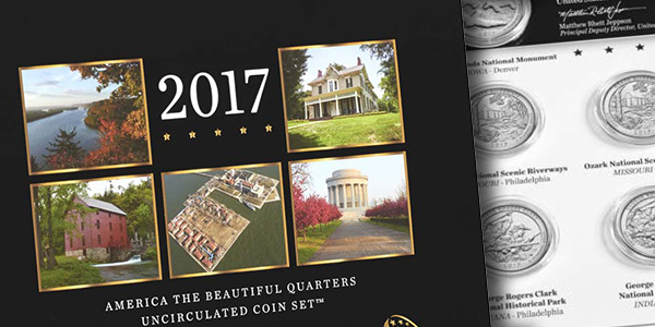 2017 US Mint America the Beautiful Uncirculated Coin Set