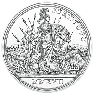 Reverse, Austria 2017 Maria Theresa - Treasures of History: Bravery and Determination 20 Euro Proof Silver Coin. image courtesy Austrian Mint