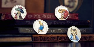 Royal Mint Adds New Limited Edition Peter Rabbit Commemorative Coins to Beatrix Potter Collection