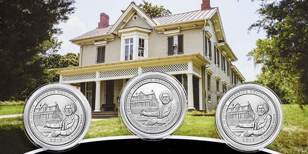 U.S. Mint Frederick Douglass Three-Coin Set