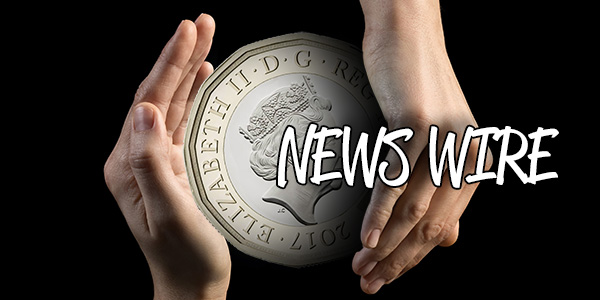 News Wire Feature Graphic - Two Hands with Misaligned 12-sided British Pound