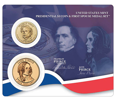 Franklin and Jane Pierce Presidential Coin and First Spouse Medal Set