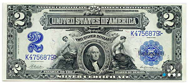 $2 Silver Certificate David Lawrence Rare Coins