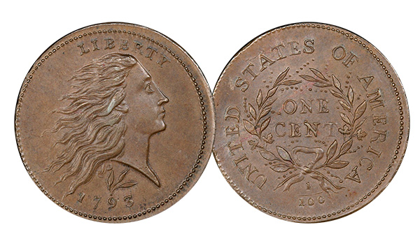 1793 Wreath Cent Lettered Edge - Condition Census Example - Legend Rare Coin Auctions