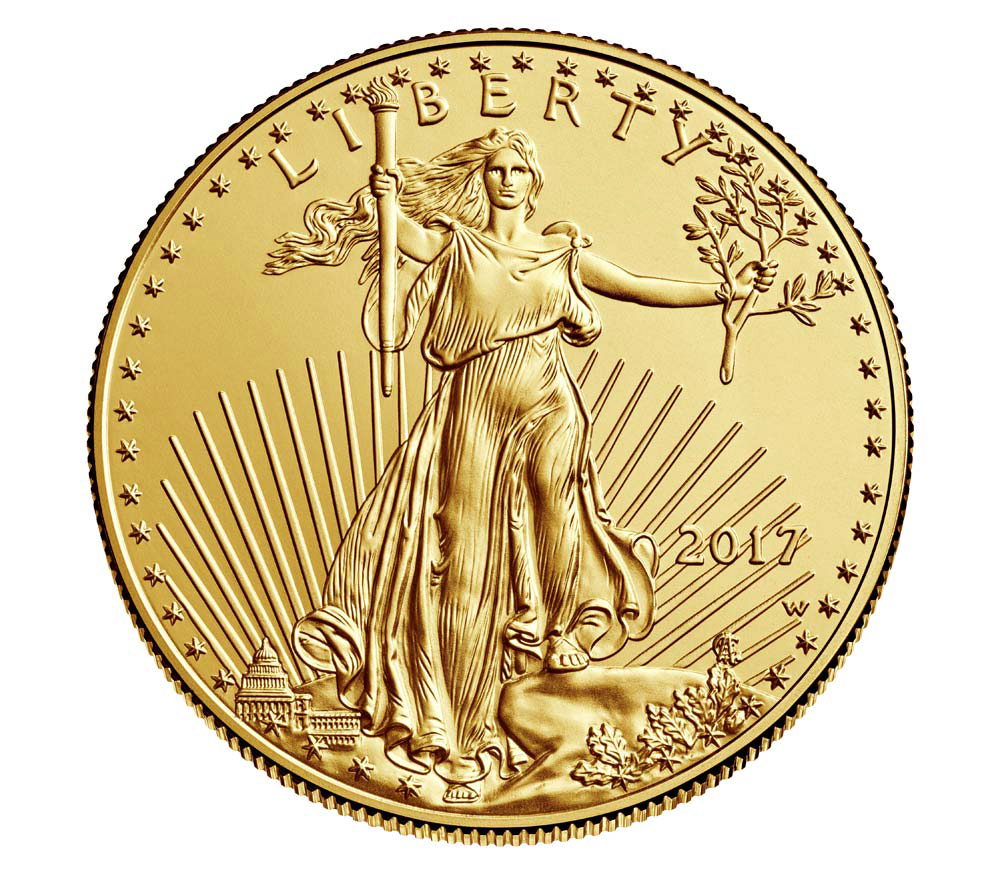 United States 2017 American Gold Eagle Uncirculated Gold Coin. Image courtesy U.S. Mint
