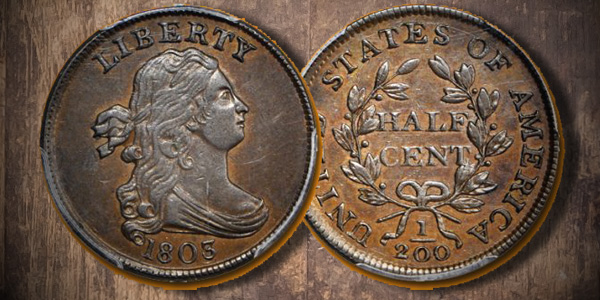 1803 Cohen-2 Half Cent Featured in Stack's Bowers June 2017 Baltimore Auction