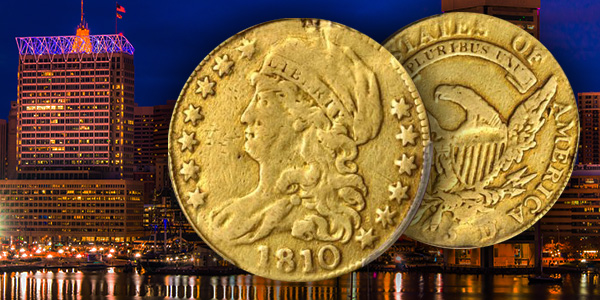 Rare 1810 Capped Liberty Half Eagle Stack's Bowers Baltimore Auction