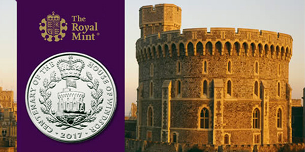 Royal Mint UK Windsor Silver Coin with Royal Mint Packaging