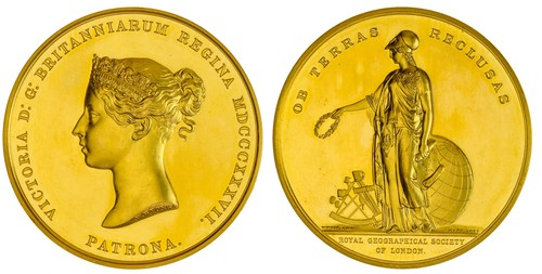 1928 Edward Reeves Royal Geographical Society Patron's Medal. Images courtesy Spink