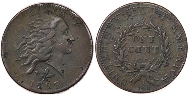 "1793 S-5 counterfeit ""pre-source"" Images courtesy of Heritage Auctions"