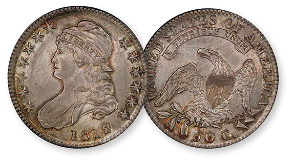 1818 Capped Bust Half Dollar - PCGS MS64