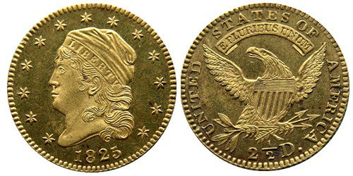 United States 1925 Liberty Head $2.50 quarter eagle Proof gold coin
