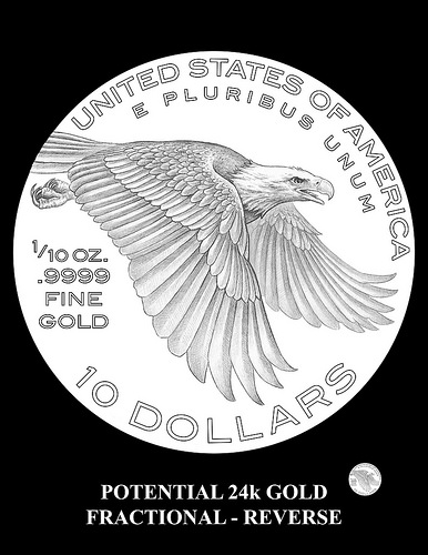 2018 American Liberty fractional gold design candidate. Image courtesy U.S. Mint