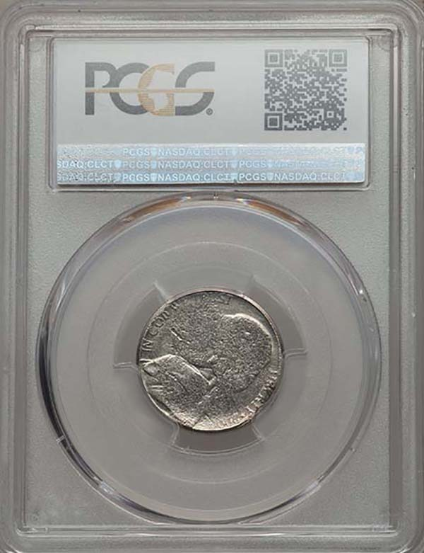 reverse, United States 2000-P Jefferson Nickel struck with two obverse dies in PCGS holder. Images courtesy Mike Byers and Mint Error News