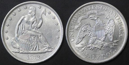 Suspect 1872-S Half Dollar - August 2016 Internet example. Images courtesy Jack D. Young, EAC