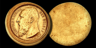 Mint Error News: Unique Certified Gold Belgium Franc Obverse Die Trial