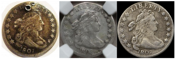 Damaged, Certified and Raw counterfeits. Images courtesy Jack D. Young