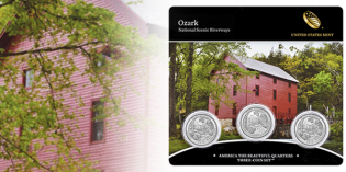 Ozark Riverways Quarter 3-Coin Set Available June 26 from U.S. Mint