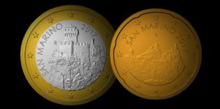 World Coins – New Euro National Sides, 5 Euro Coin for San Marino in 2017