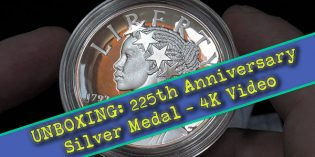 CoinWeek: United States Mint 225th Anniversary Silver Medal Unboxing – 4K Video