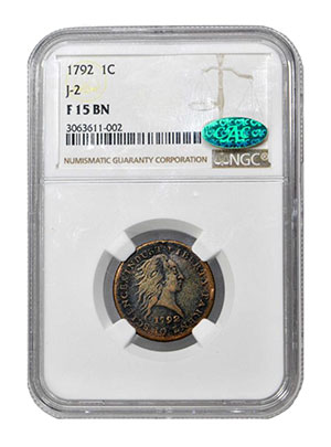 1792 Pattern Cent. F-15 BN NGC CAC