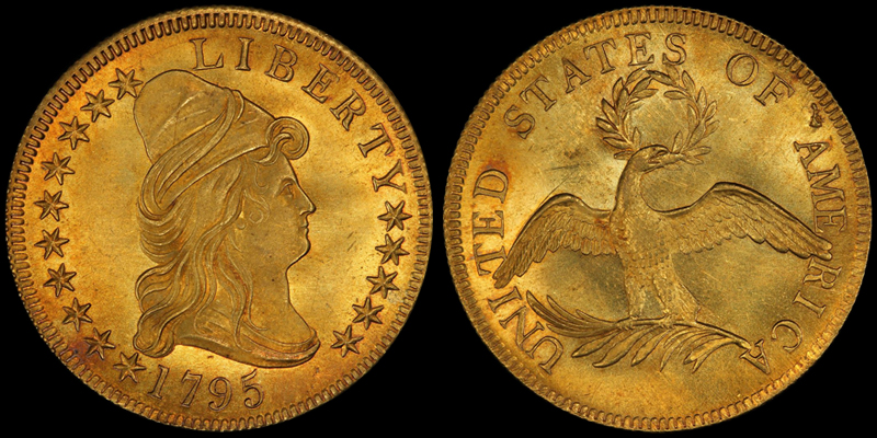 1795 $10.00, COURTESY OF PCGS COINFACTS