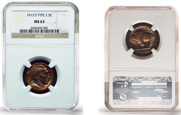 1913-S Buffalo nickel. Images courtesy Stack's Bowers Auctions