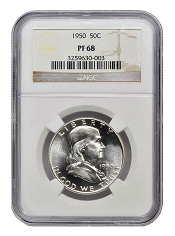1950 Franklin Half Dollar PF68 NGC - Stack's Bowers August 2017