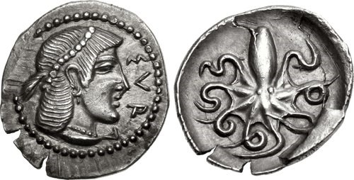 Ancient Greek silver litra from Syracuse. Images courtesy NGC