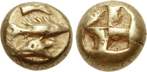 A 1/12-stater from Cyzicus. Images courtesy Classical Numismatic Group, NGC
