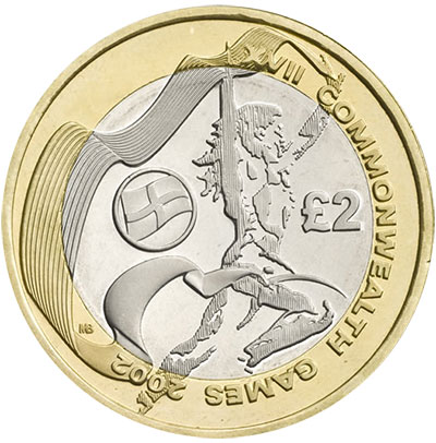 2002 Commonwealth Games Coin United Kingdom