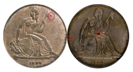 More examples of 1836 Gobrecht dollar source material. Courtesy Jack D. Young